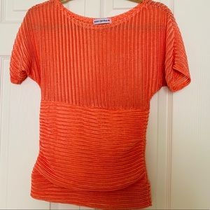 Unique Body Central Melon Knit Top, Size M, EUC